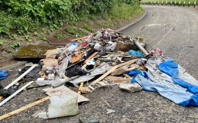 Councillor slams mindless fly tipper after dumped waste is strewn across city road