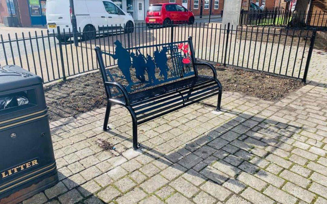 Bench tribute to fallen heroes in Southwick