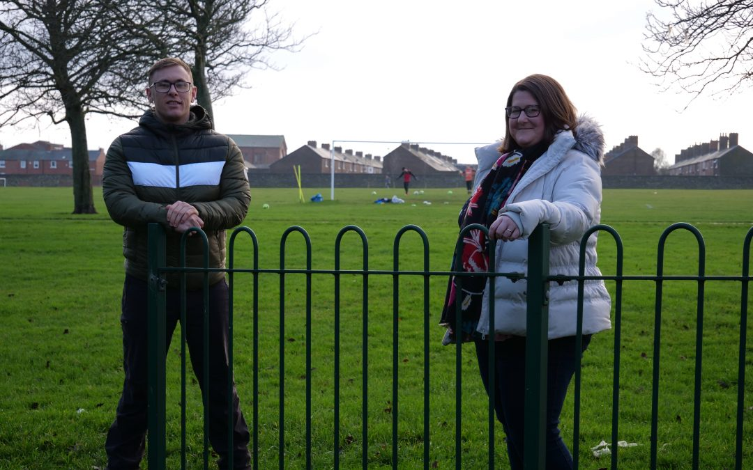Thompson Park Cllrs Michael Butler and Alex Samuels 02